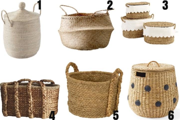 Pretty storage baskets