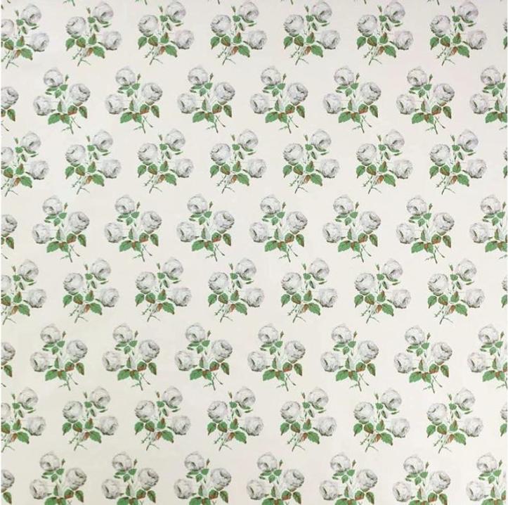 Bowood fabric swatch union green grey