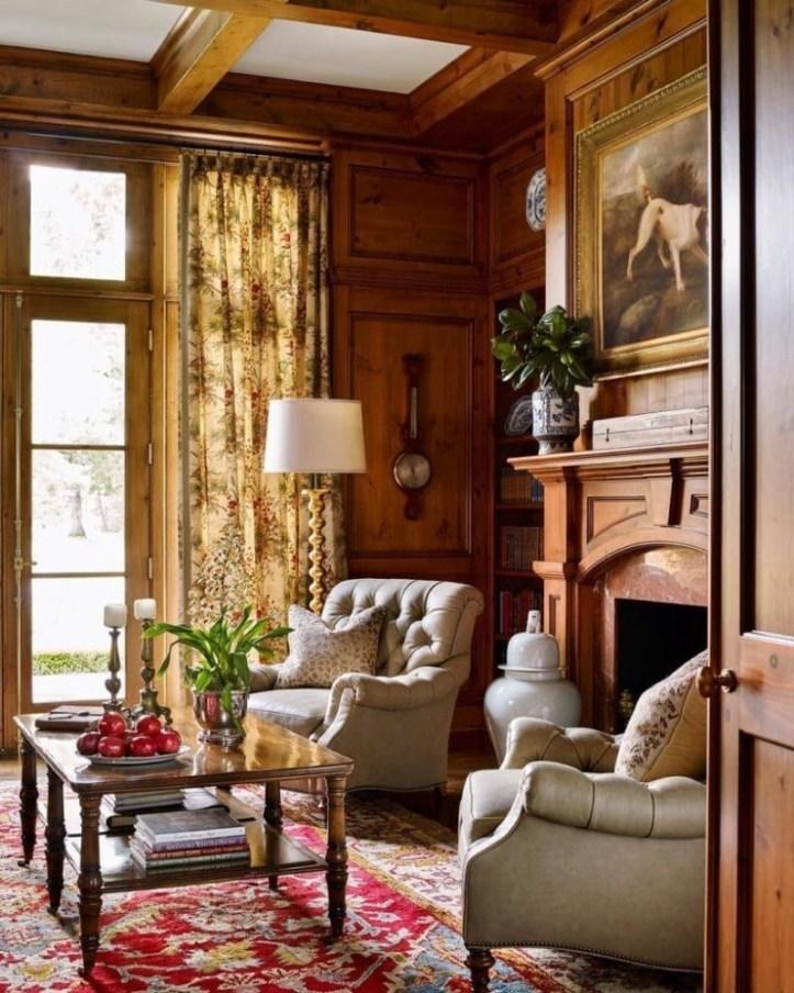 James Farmer Living Room with celadon ginger jar