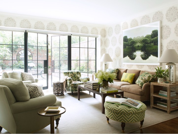 Green living room by Ashley Whittaker