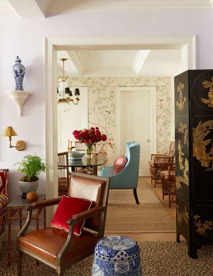 Mark D. Sikes lavender living room