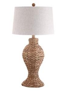 Wicker rattan table lamp