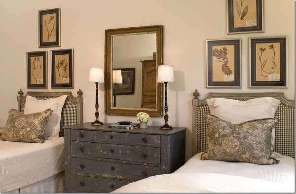 Guest bedroom with two beds