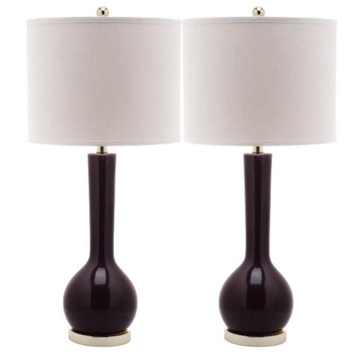 Dark purple table lamp