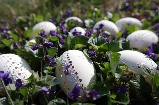 Blumen  Dekorationen zu Ostern kaufen  verschicken