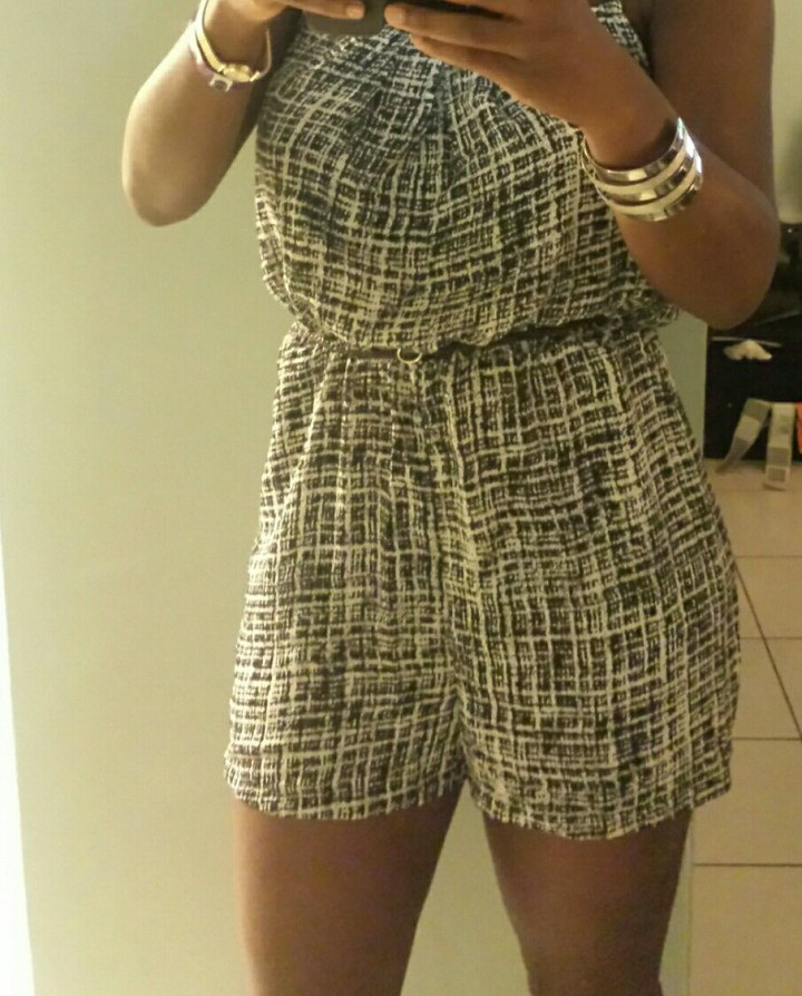 Playing in the playsuit..