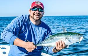 Seth with fish