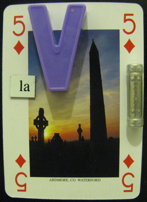 Five of diamonds from the 'Ireland' deck: Countdown