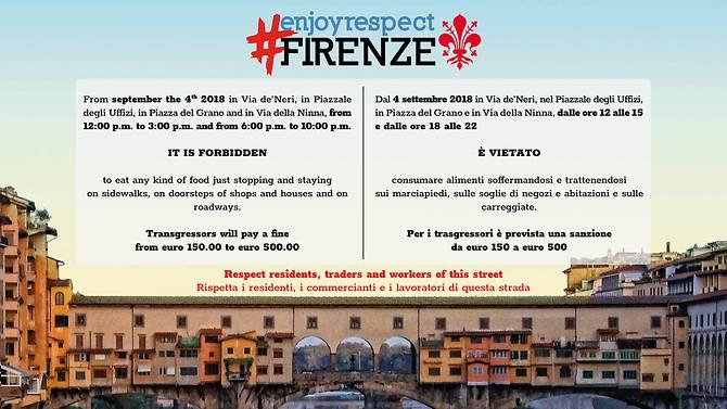 Florența interzice mâncatul pe stradă