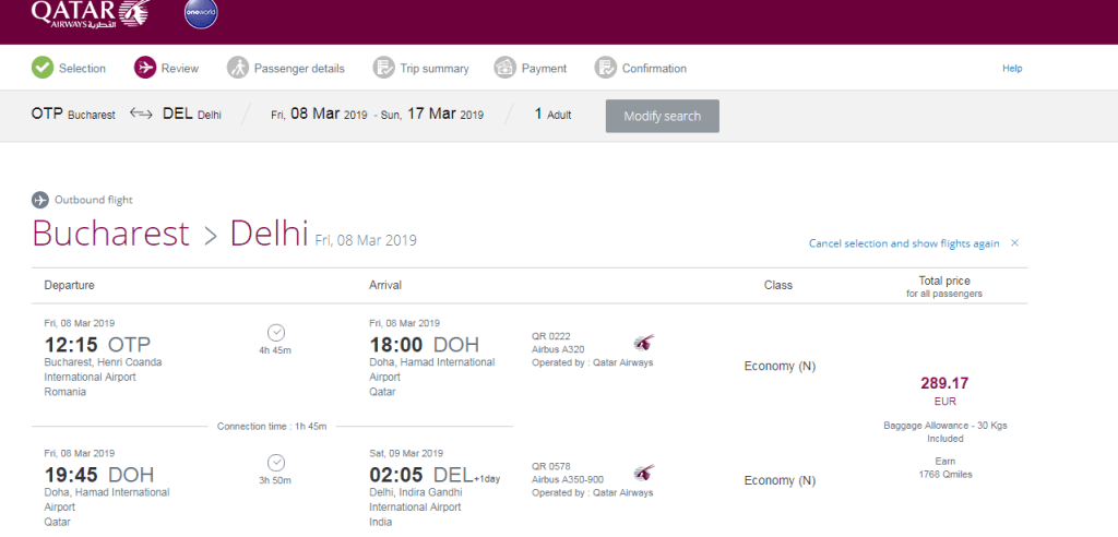 Qatar Airways promoții