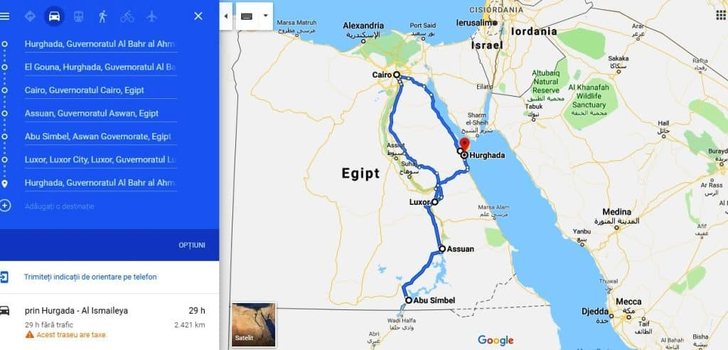 Traseu o lună în Egipt pe cont propriu