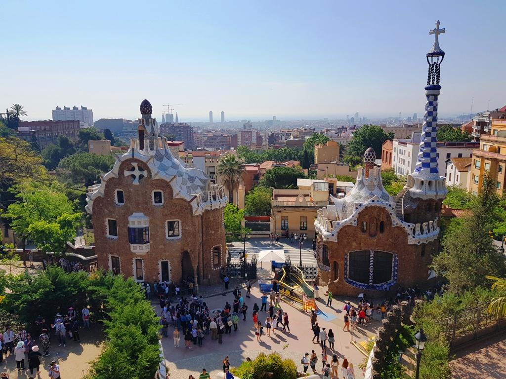 Parcul Guell - panoramă spre Barcelona