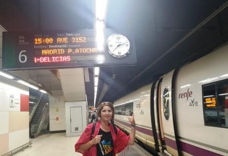 cu trenul de la Barcelona la Madrid