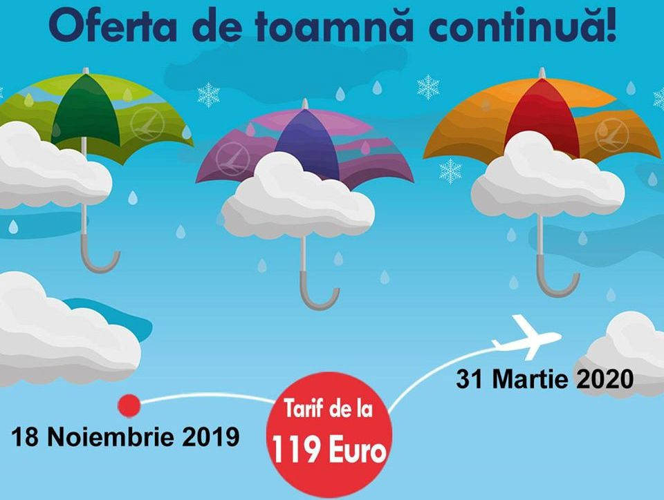 zboruri Tarom de la 119€ dus-întors