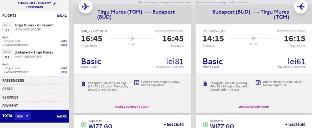 Rută nouă Târgu Mureș - Budapesta, operată de Wizz Ai