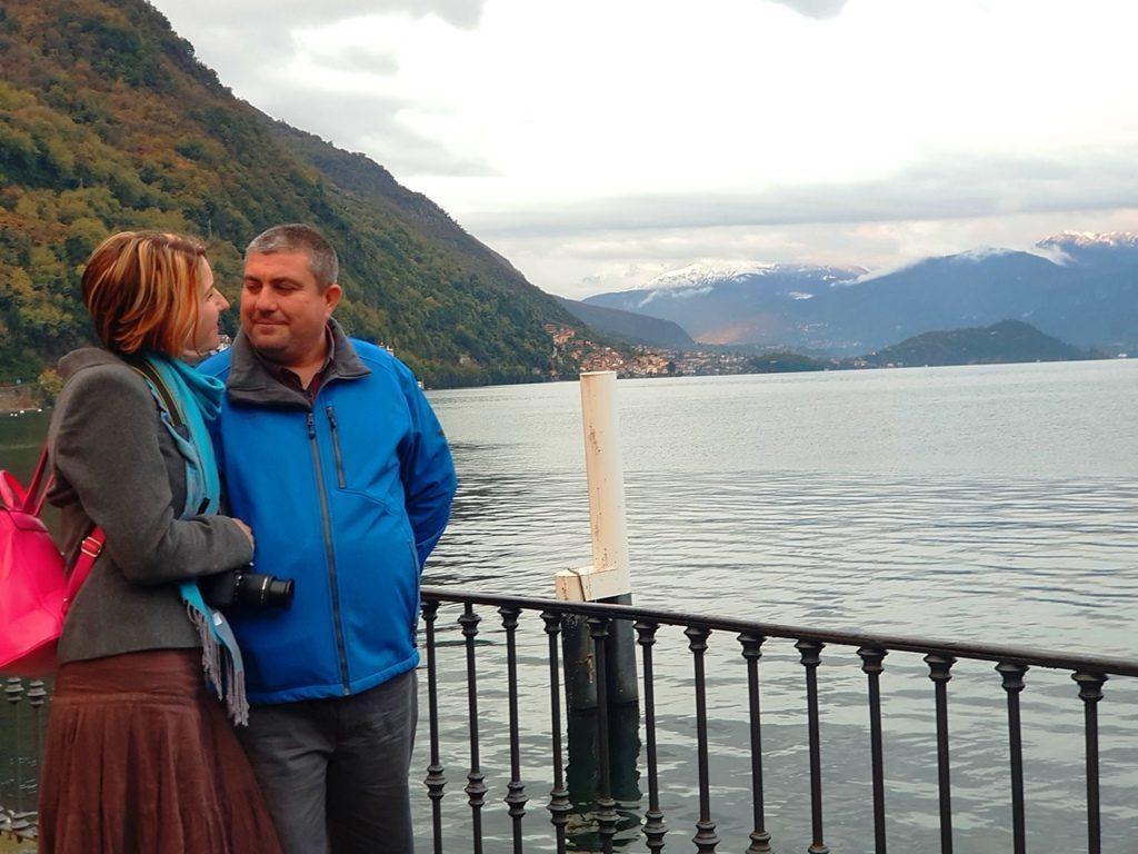 Lacul Como pe vreme ploioasă