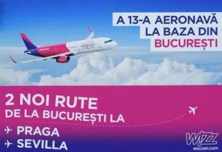 din București cu Wizz Air spre Praga și Sevilla
