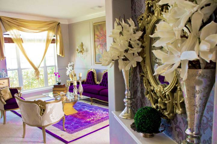 purple livingroom at angelaeast.com