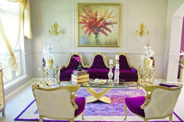 purple livingroom at angelaeast.com