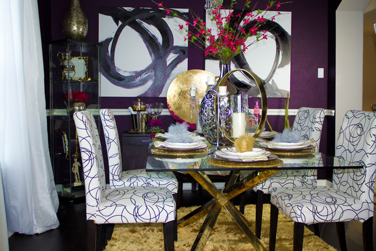Dining Room Makeover #homedecor #1Room30Days #glam with Angela East at angelaeast.com