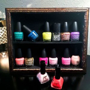 Nail Polish Stand DIY |DollarTree DIY |Finger nail Polish Storage | Home DIY | Home Decor on a Budget | Inexpensive storage | Teen Bedroom Decor | Girly decor