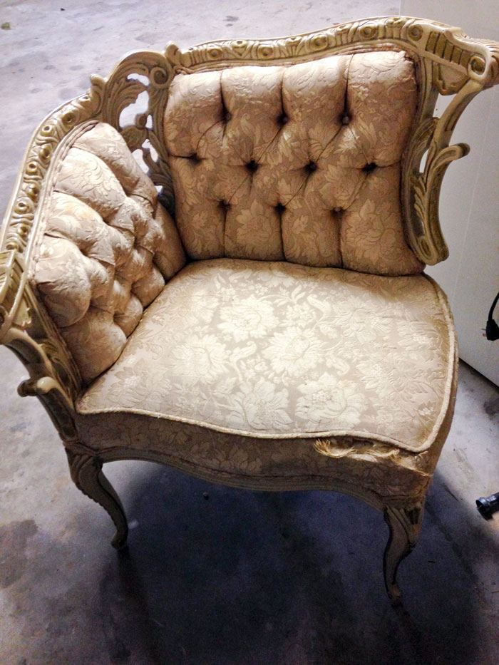 Reupholster Antique Furniture | Purple Velvet Sofa | Craigu0027s List Find |  Furniture DIY | Furniture