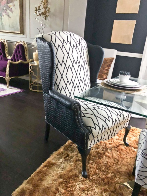 Black and White Wingback Chairs