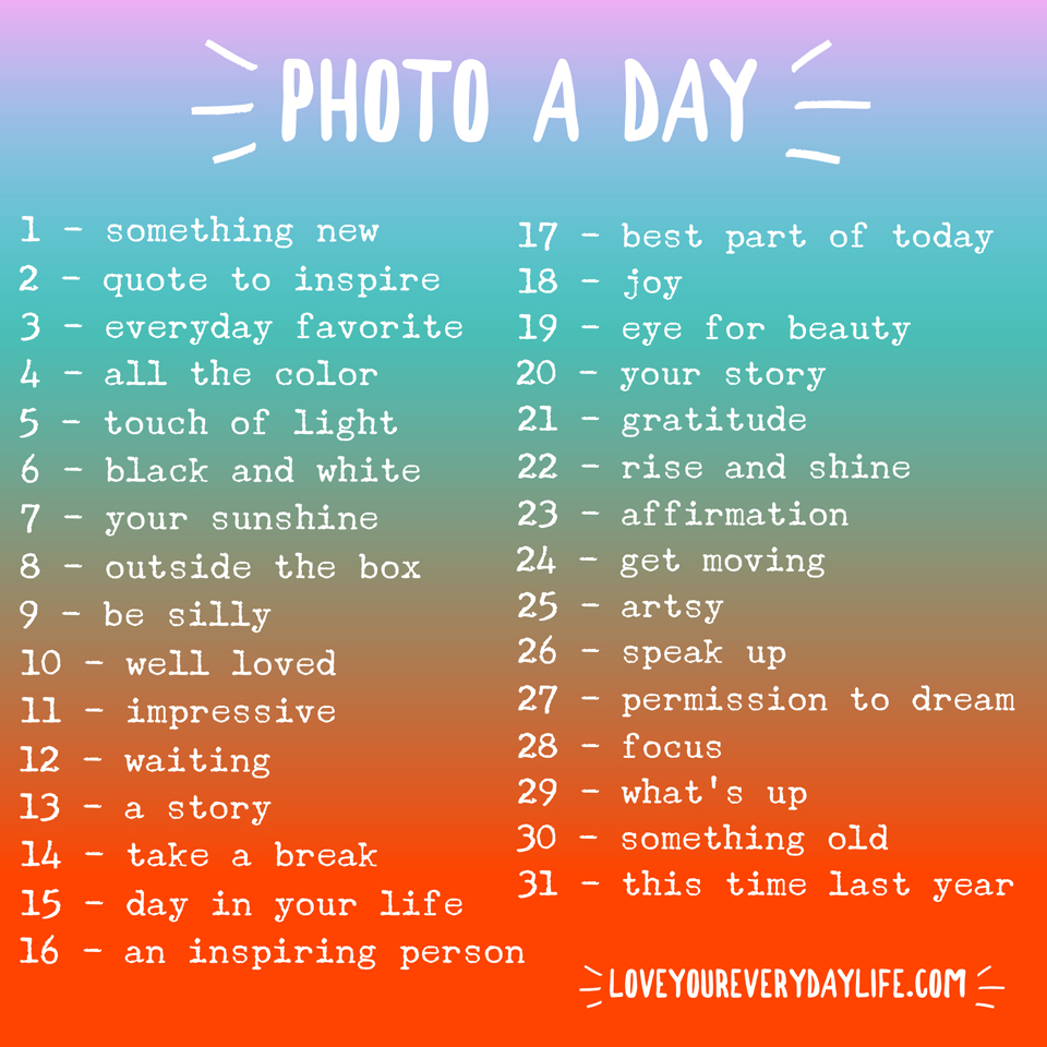 January Photo Challenge by LoveYourEverydayLife.com