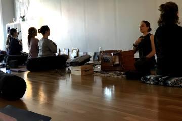 Harmonium in Yoga Class