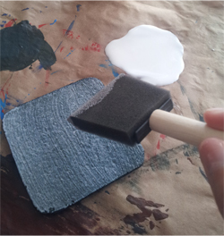 step7 - paint modpodge with foam brush
