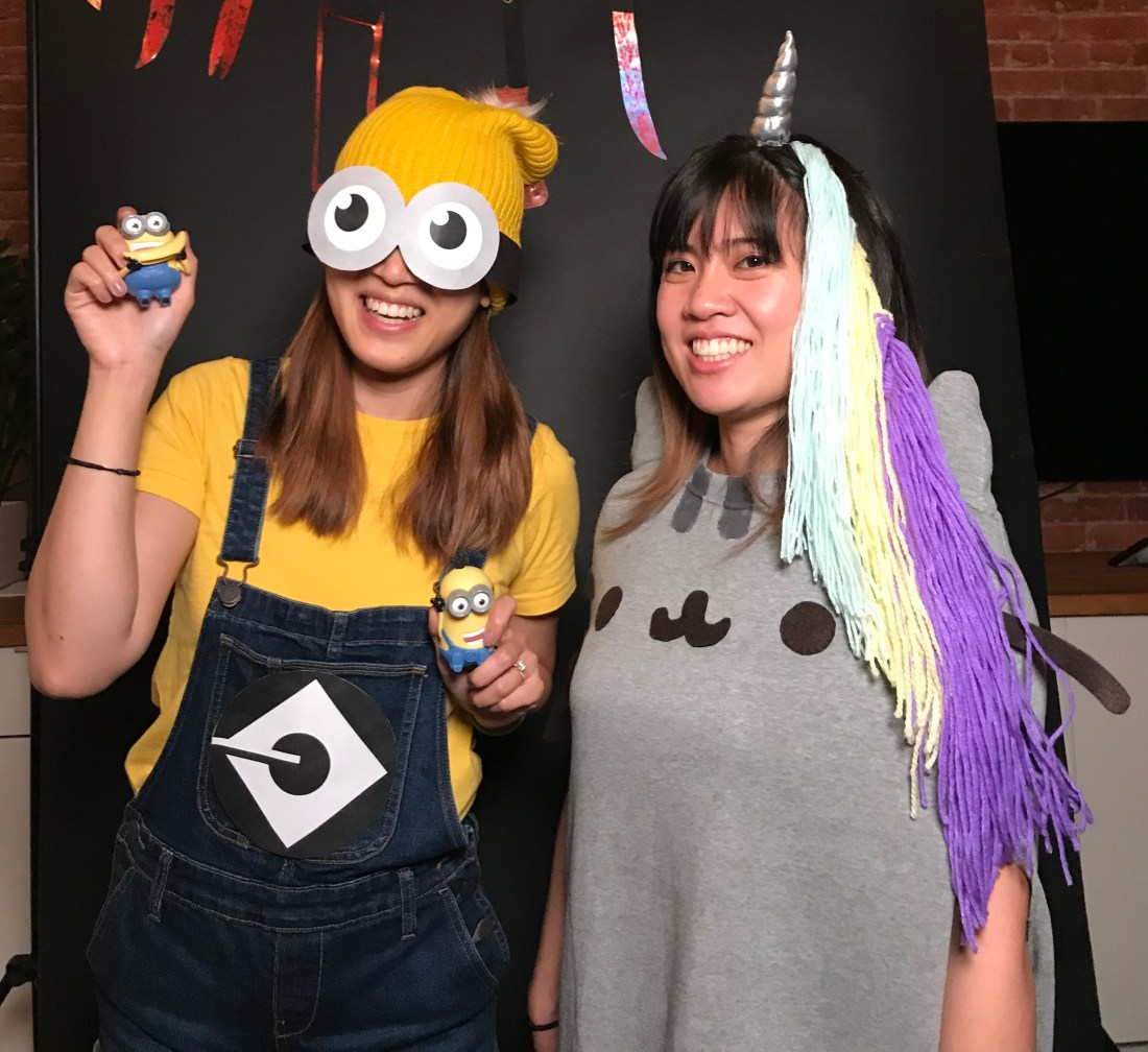 diy minion costume and unicorn pusheen