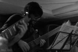 Jesús Caparrós estudia Bajo Eléctrico Jazz en Musikene (San Sebastián), él también viene de Murcia.