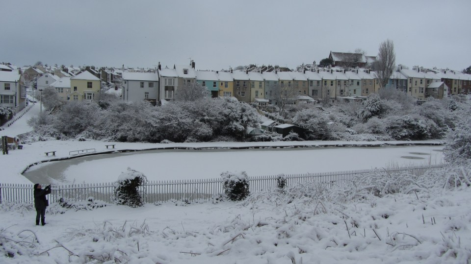 Harold Road in the snow