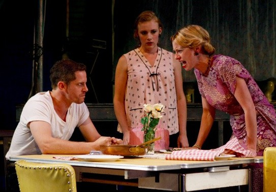 A Streetcar Named Desire, directed by Sheila Daniels, featuring Angela Pierce (Blanche), Jonno Roberts (Stanley), Chelsey Rives (Stella)