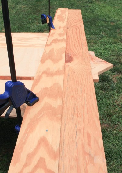 DIY Chevron Planter Stand