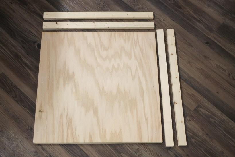 DIY Wood Sign lumber and materials