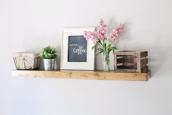 Floating Shelf DIY for the Office