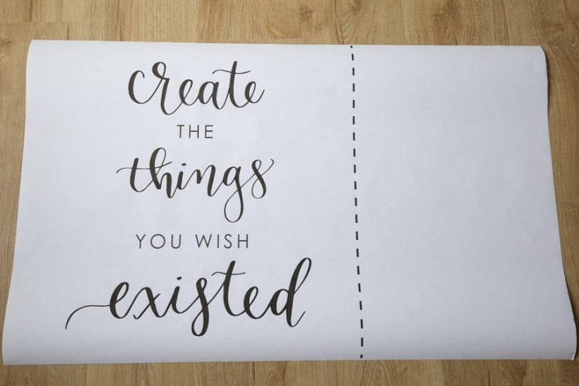 DIY Wood Sign with Calligraphy Quote - Angela Marie Made