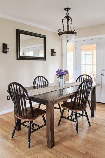 Farmhouse Table Diy With Removable Legs Angela Marie Made