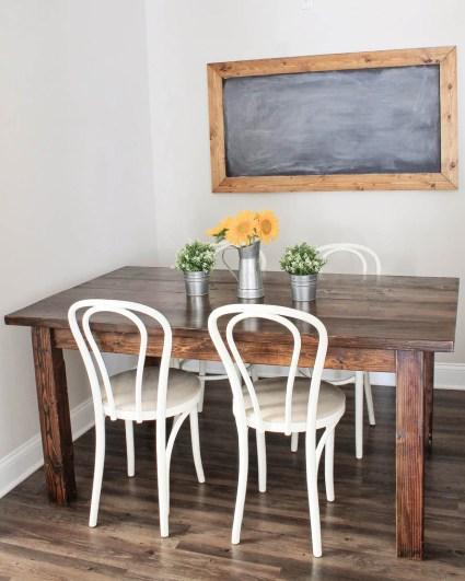 Farmhouse table diy with removable legs angela marie made for Farm table legs diy