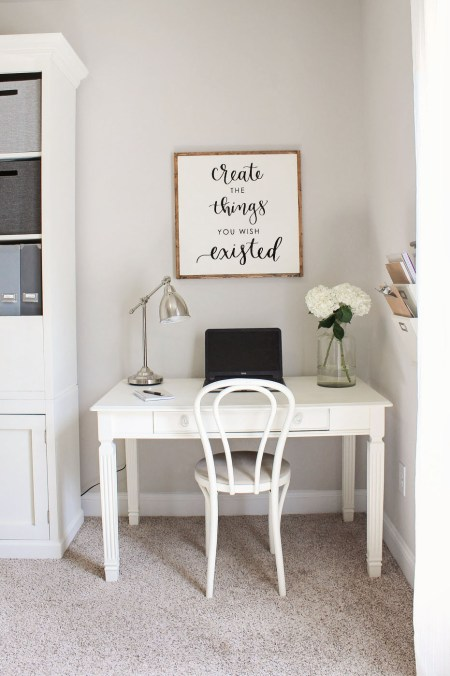 Rustic Chic Home Office Makeover