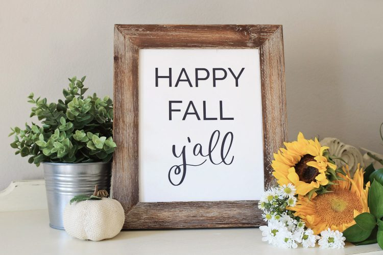 Free Happy fall ya'll printable