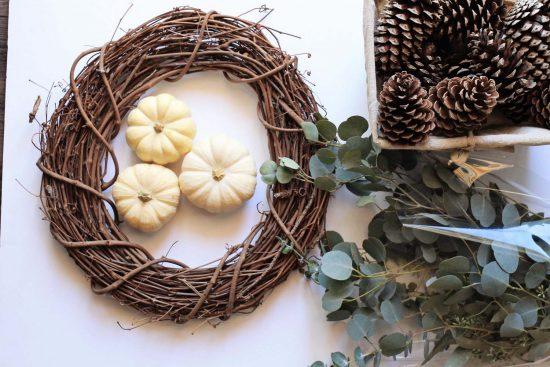 Neutral Fall Wreath DIY