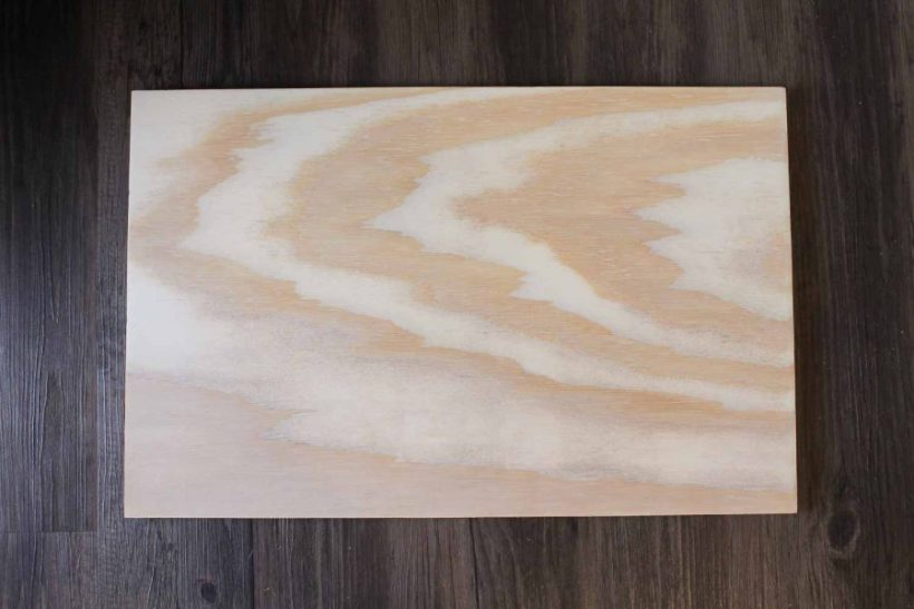 plywood cut to size for top tray