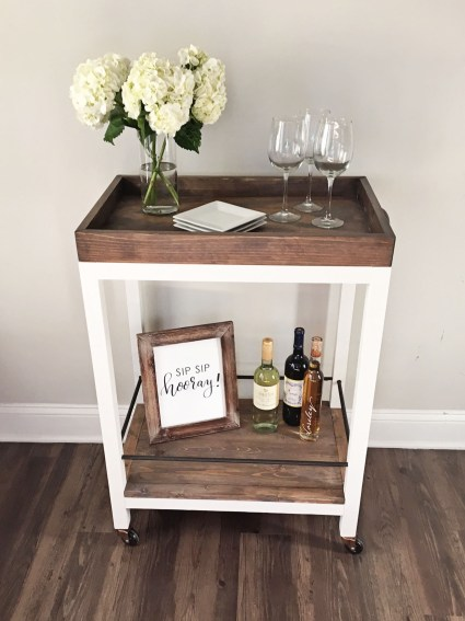 diy rustic bar. I M Super Excited About Today S Post On How To Build A DIY Bar Cart  This Project Has Been In My Head For Months And The Plans Was Going Bar Cart Angela Marie Made