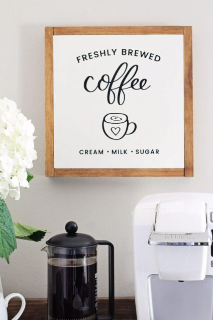 Coffee Bar Cart DIY