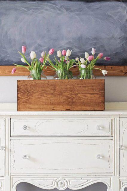 Large Wood Flower Box DI