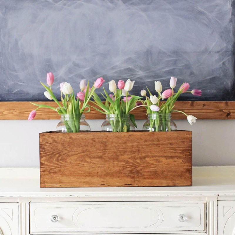 Large Wood Flower Box DIY