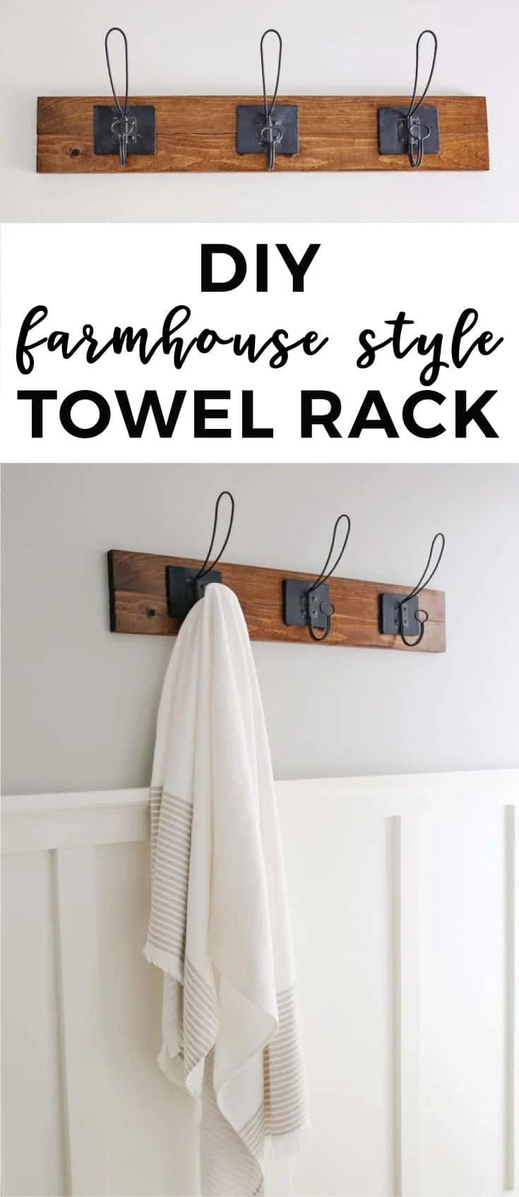 farmhouse style diy towel rack angela