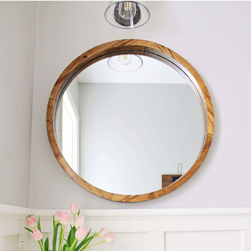 Angela marie made angela marie made for Round wood mirror